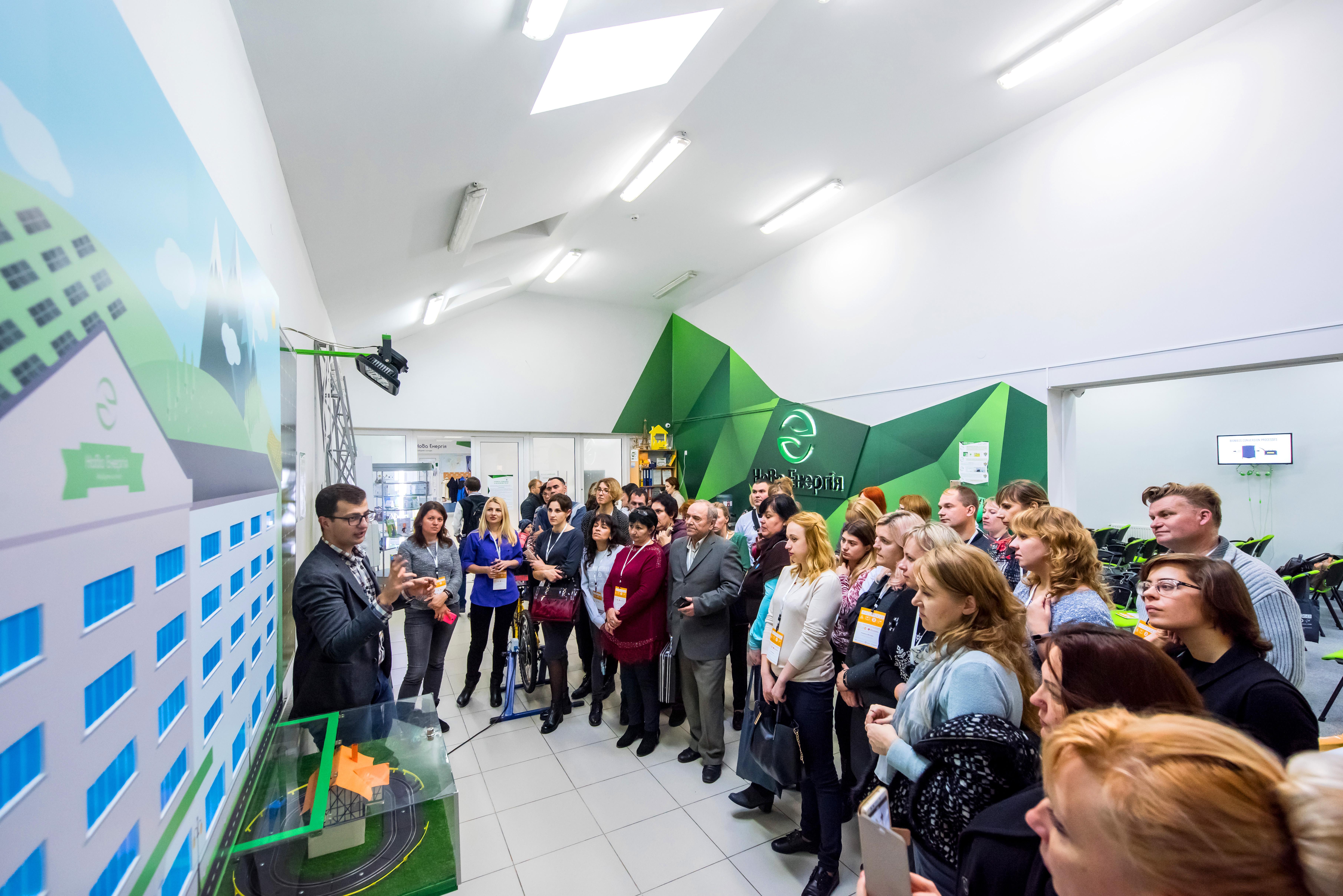 Вчителі СТЕМ-предметів під час Всеукраїнського Хакатону в Івано-Франківську, 2018 рік.